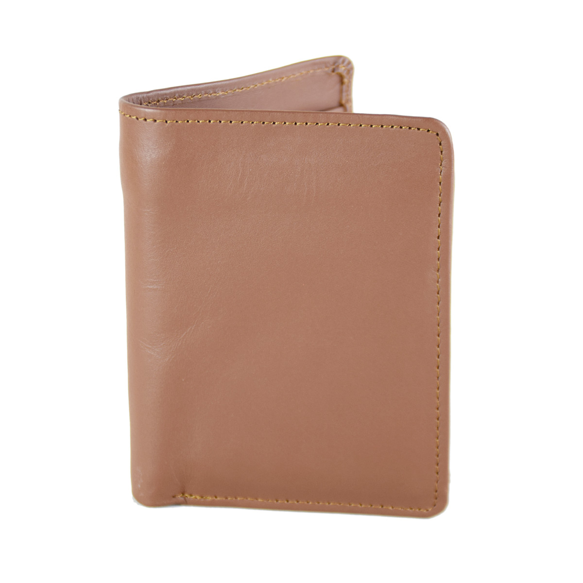 BROWN WALLET WITH ATTACHED CREDIT CARD HOLDER