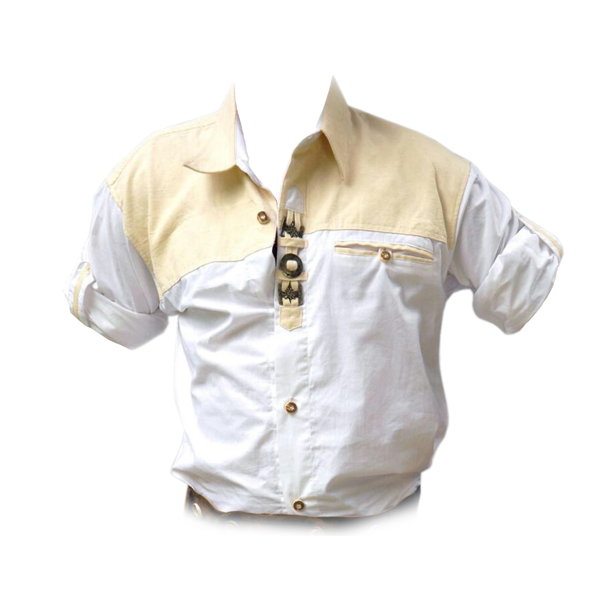 MEN SHIRT WITH METAL BUCKS
