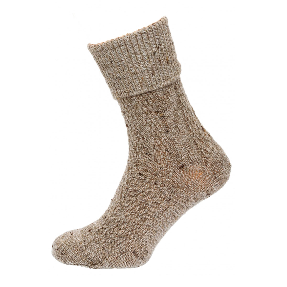 SIMPLE DARK BROWN FEMALE SOCKS