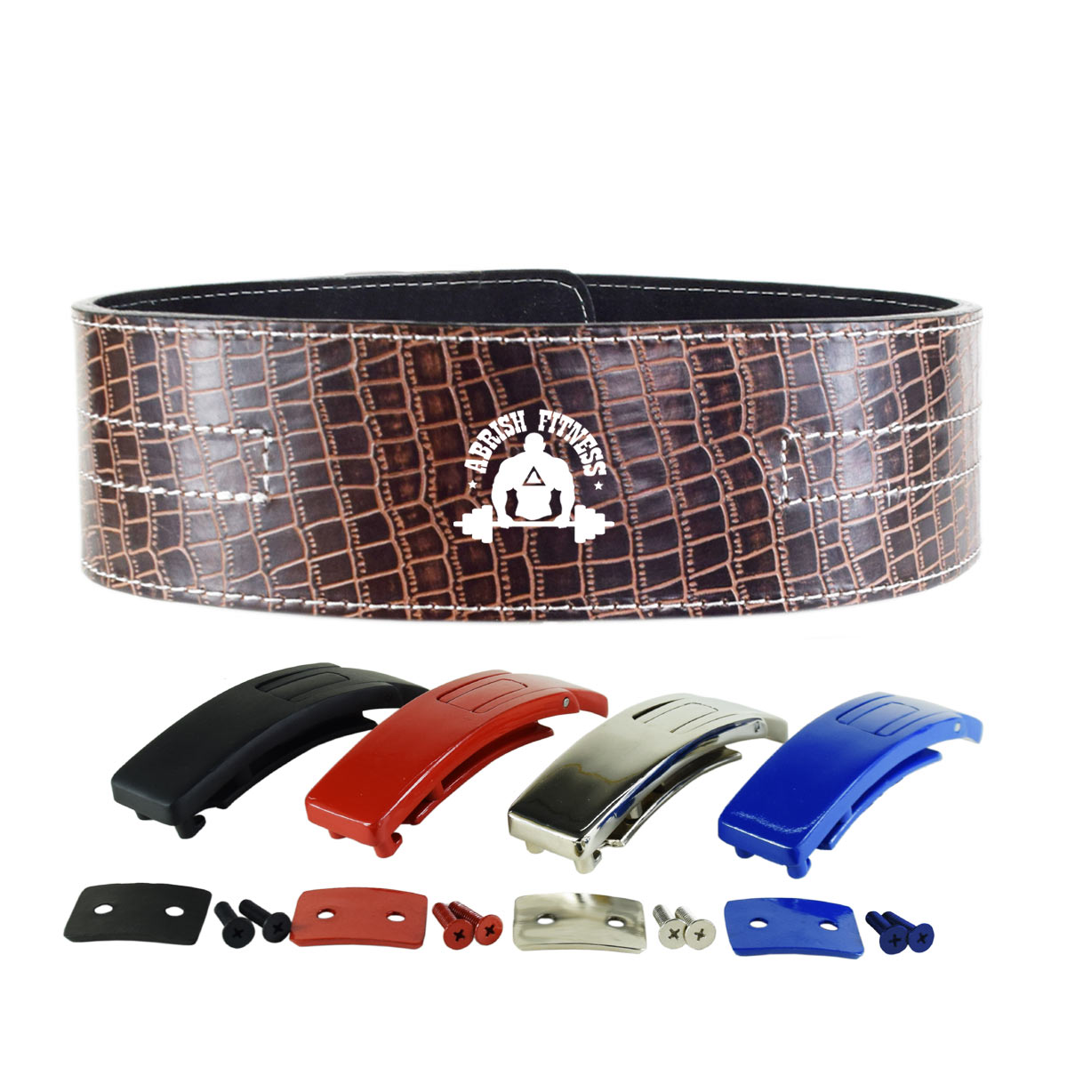 DARK BROWN LEVER BELT