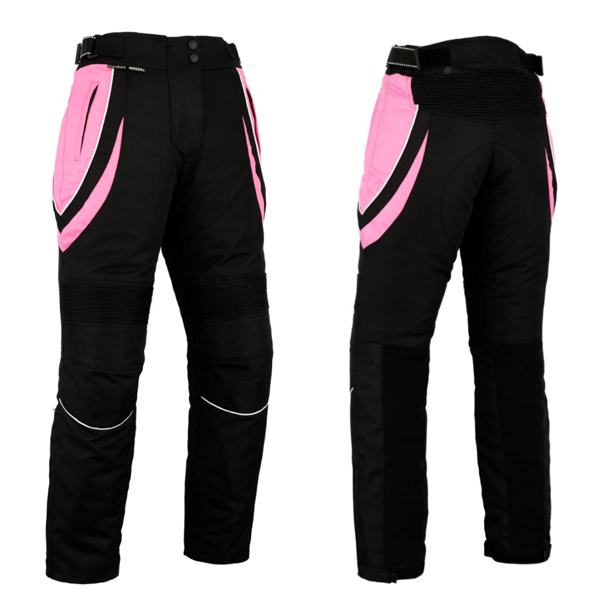 BLACK FEMALE CORDURA PANT WITH PINK DESIGN