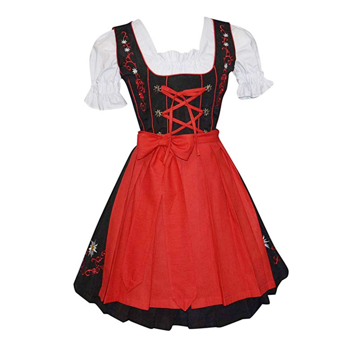 FLOWERS DIRNDL WITH LACES
