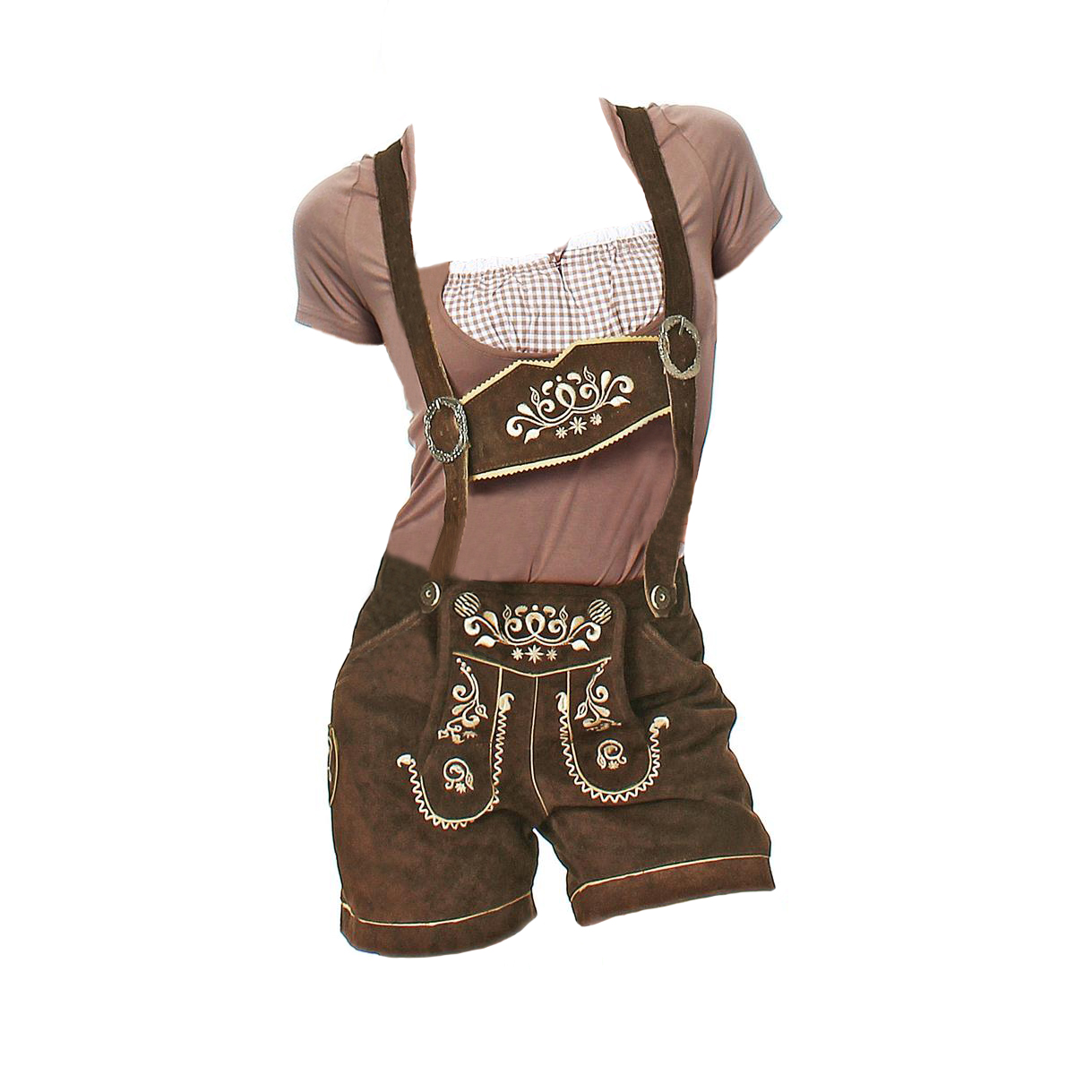 LADIES BROWN LEDERHOSEN