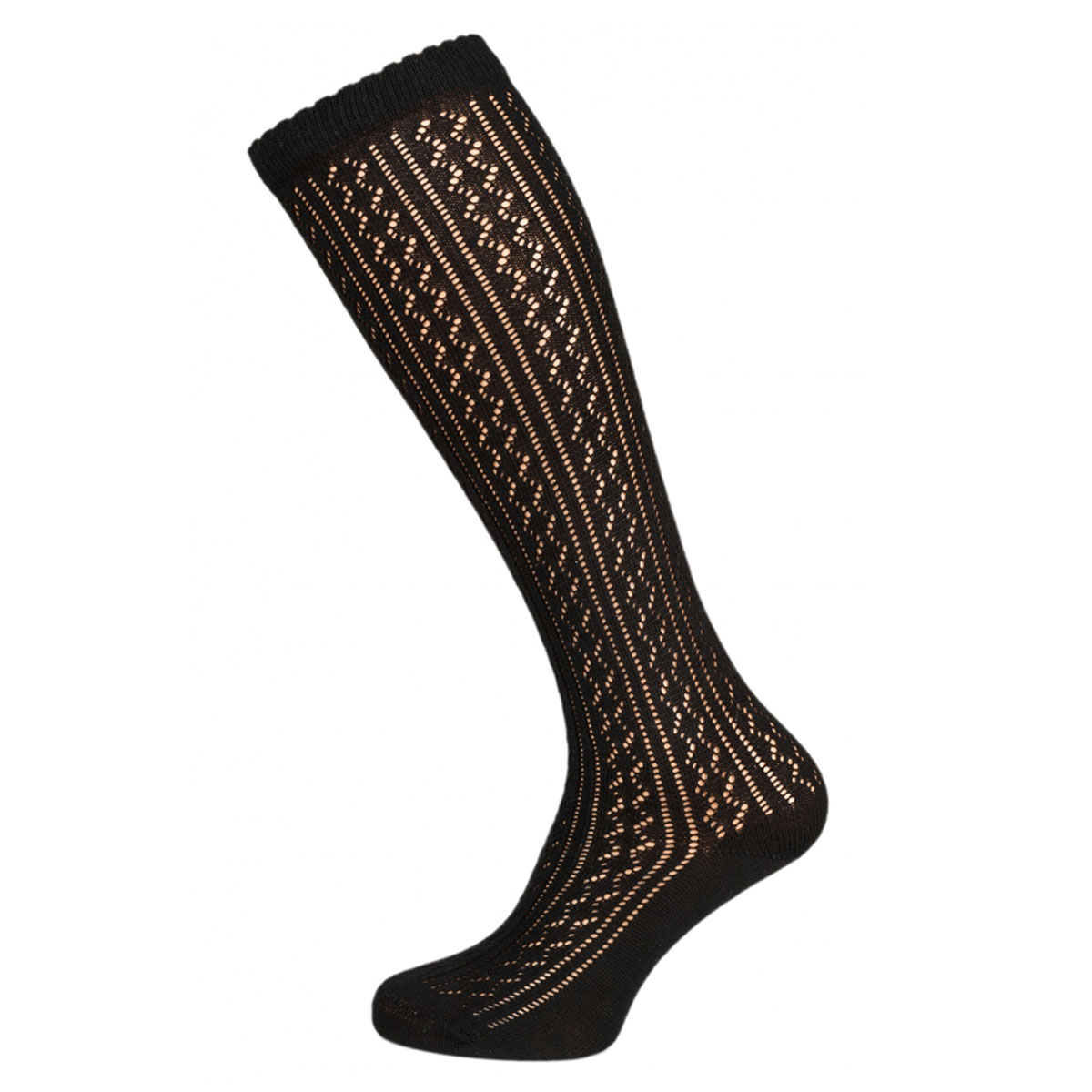 BLACK TRANSPARENT FEMALE SOCKS