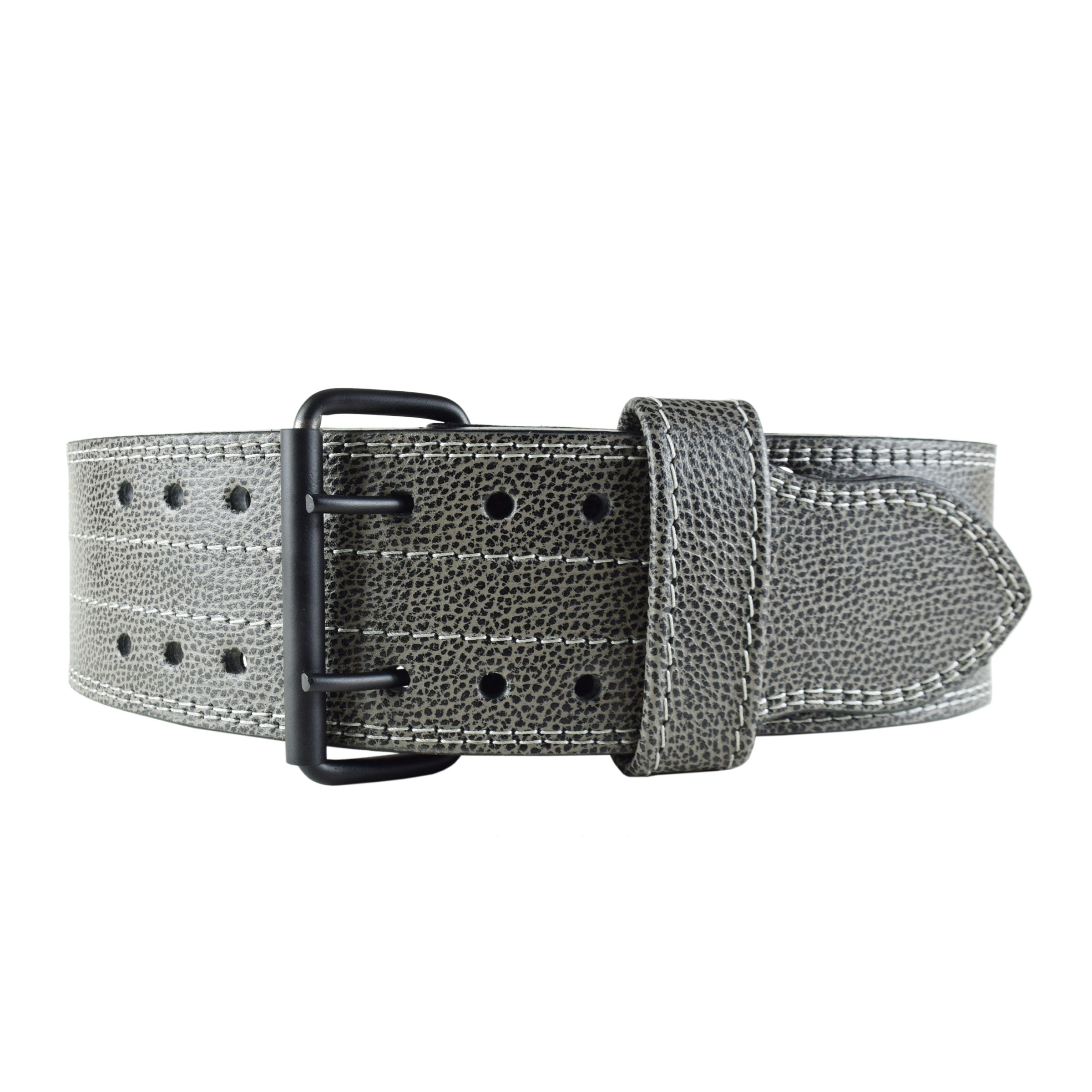BLACK & GREY WEIGHTLIFTING BELT