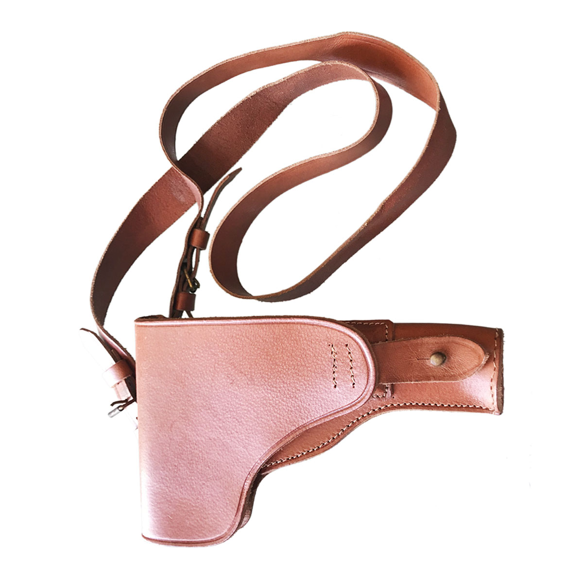 BROWN COWBOY HOLSTER FOR SHORT GUN