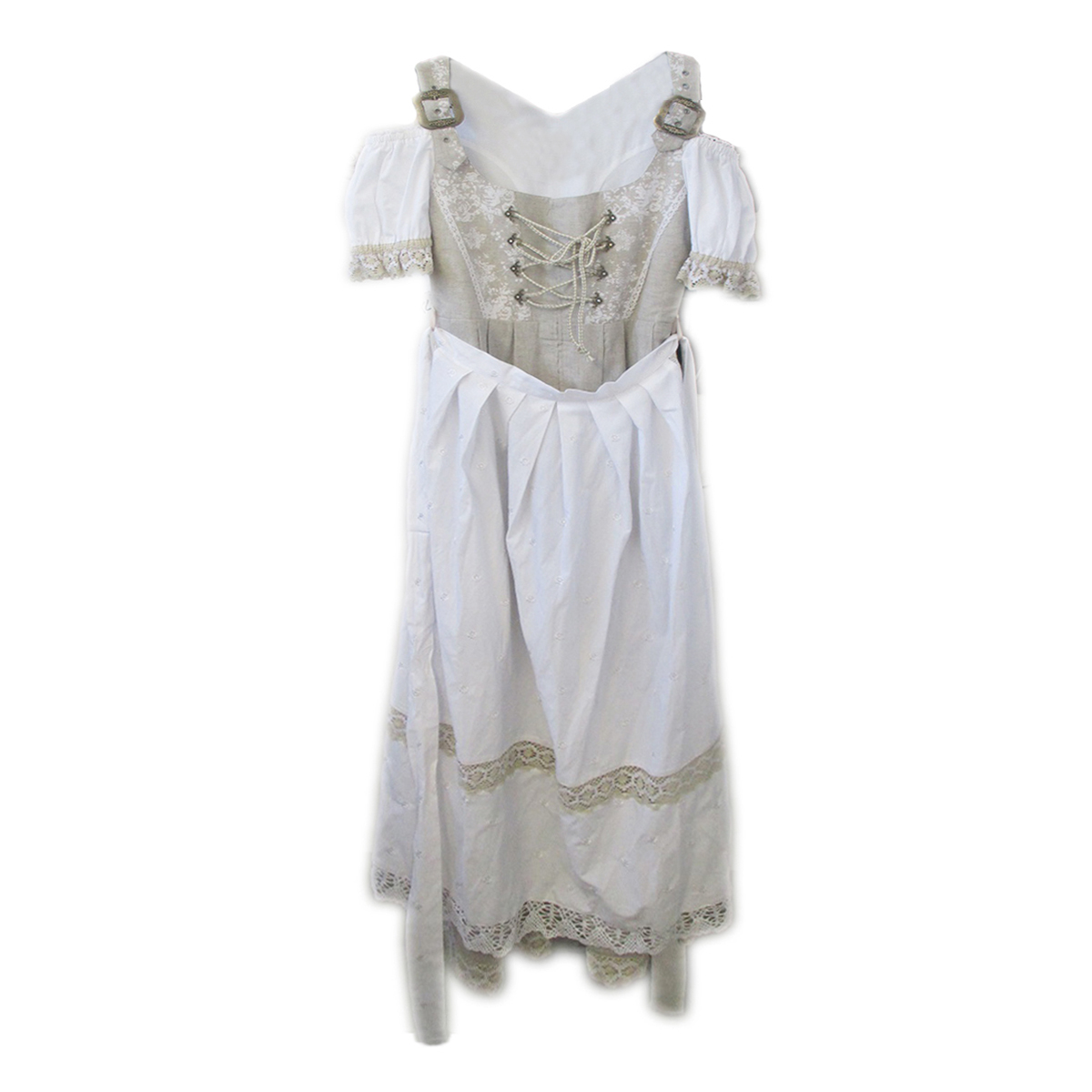 LONG DIRNDL WITH TWO BUCKLE & LACES