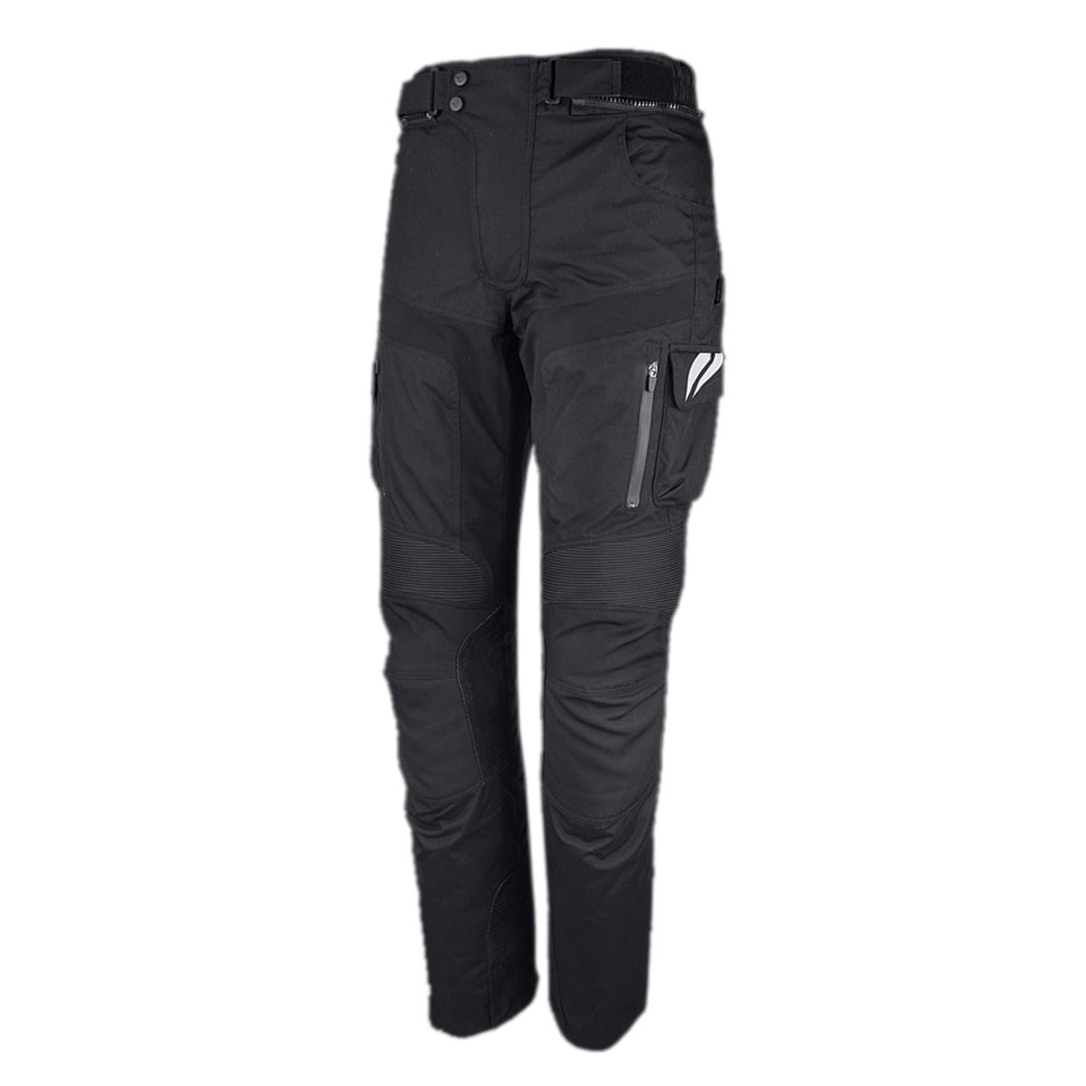 BLACK FEMALE CORDURA PANT WITH VERTICAL ZIPS