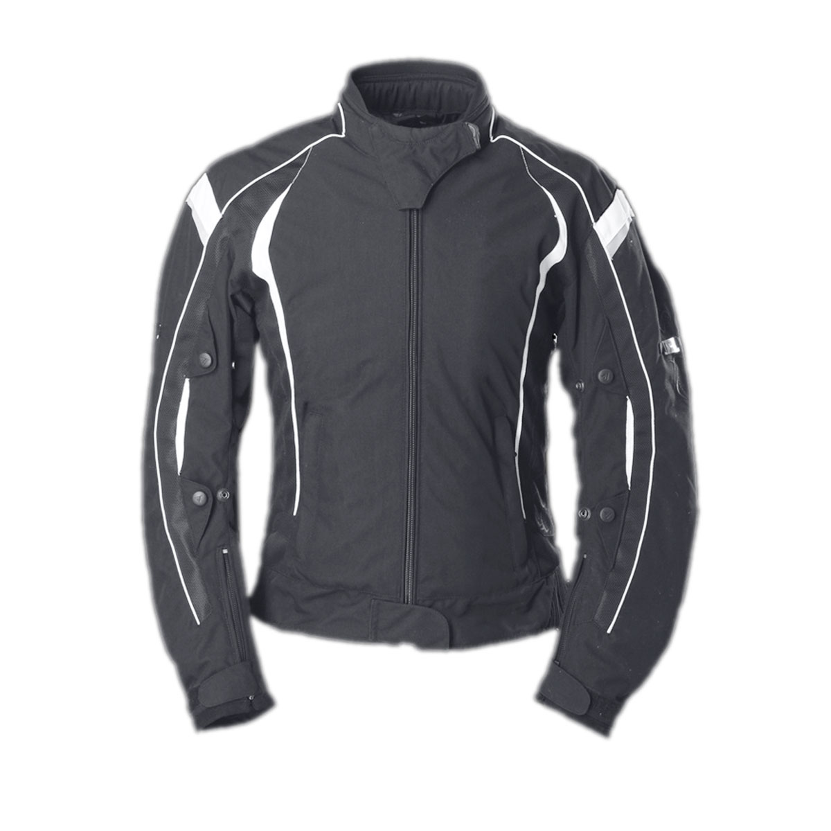 BLACK FEMALE CORDURA JACKET WITH UNIQUE DESIGN