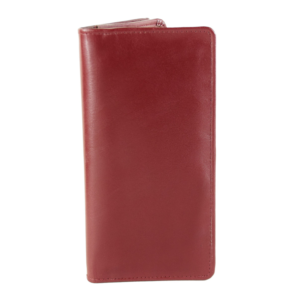 MAROON LONG WALLET WITH SEVERAL POCKETS