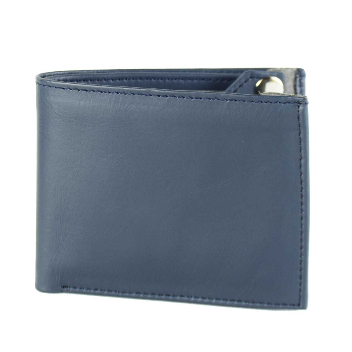BLUE WALLET WITH UNIQUE CARD HOLDER