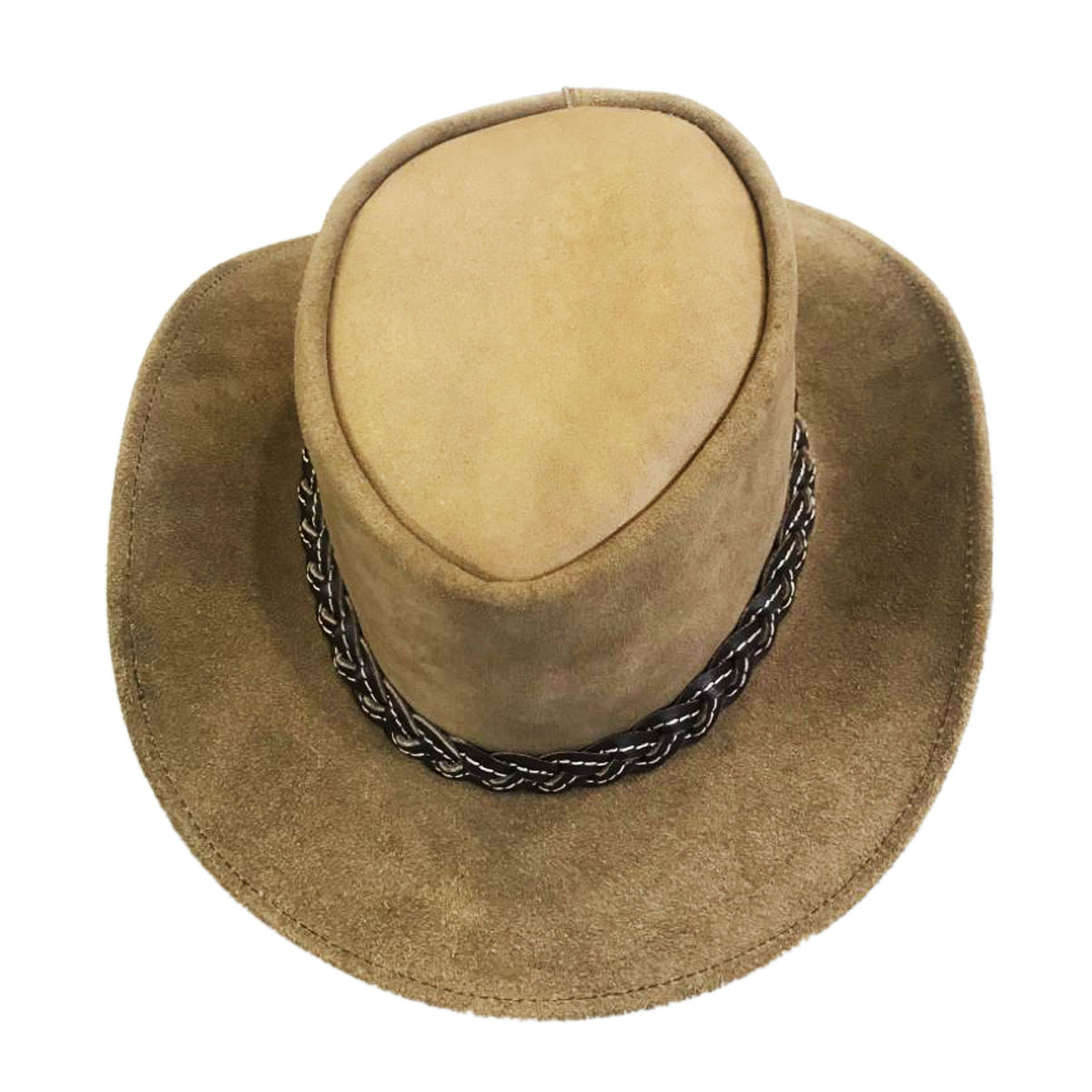 TAN LEATHER HAT