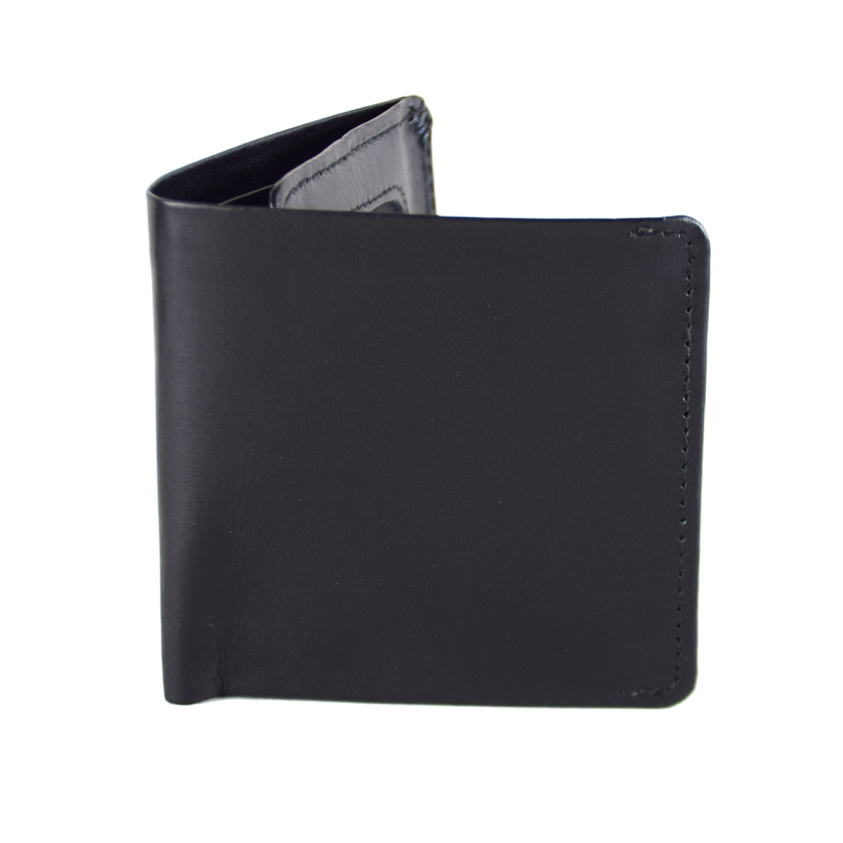 BLACK TRIFOLD WALLET WITH SEVERAL POCKETS