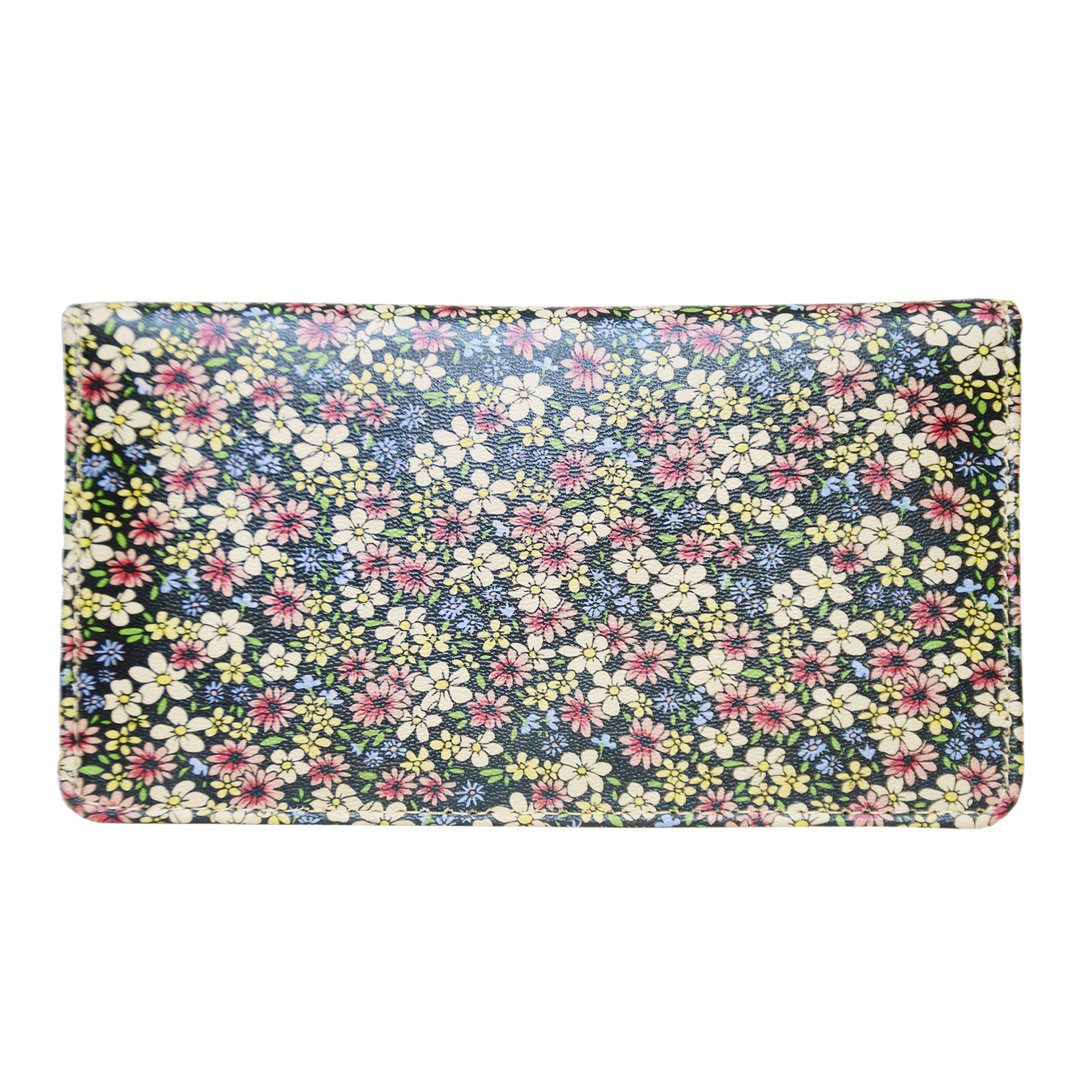 FLOWER DESIGN LADIES CLUTCH WTIH SEVERAL POCKETS