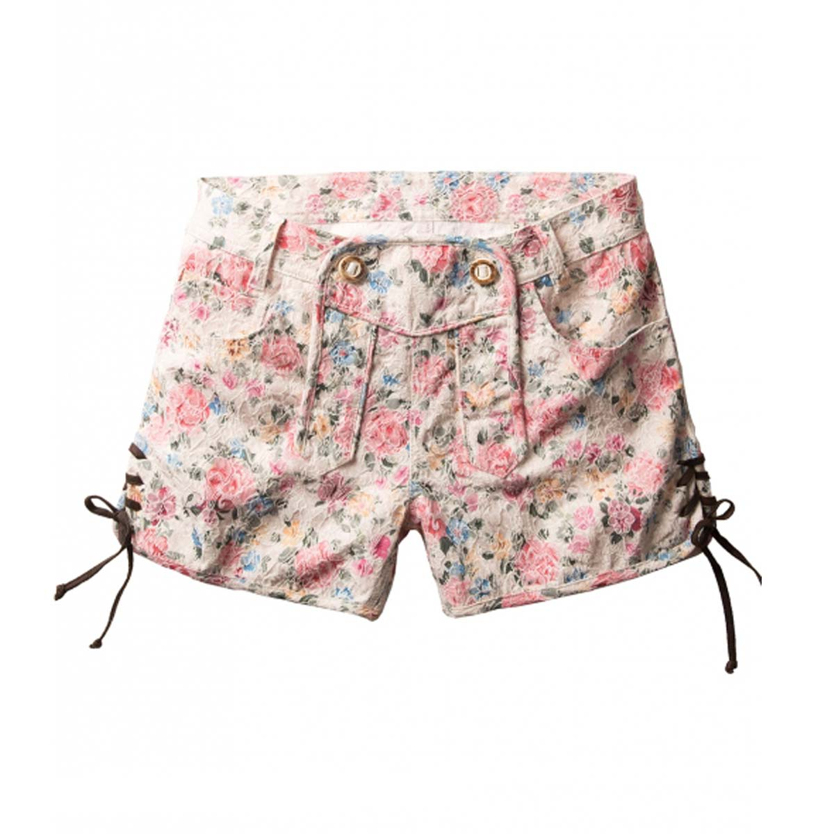 SKIN FLEECE HOSEN WITH FLOWERS