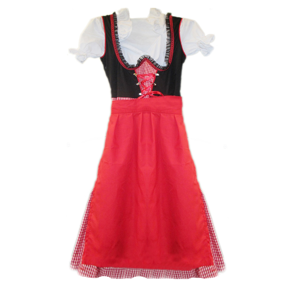 CHECKERED DIRNDL WITH LACES
