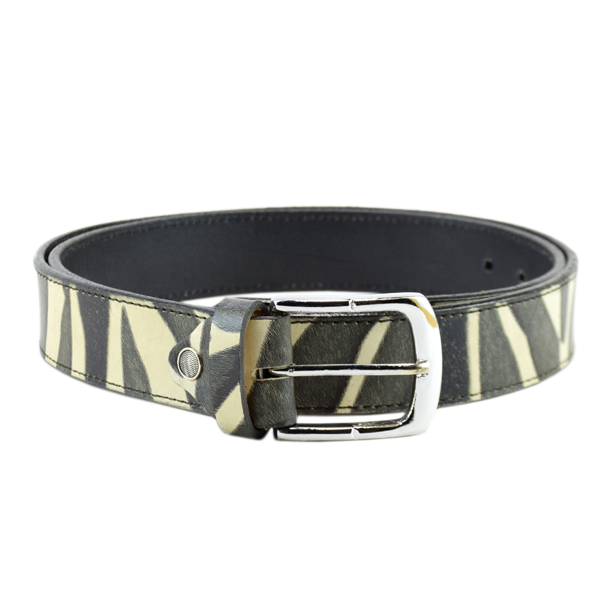 Casual Topstitched Leather Belt 1.5""