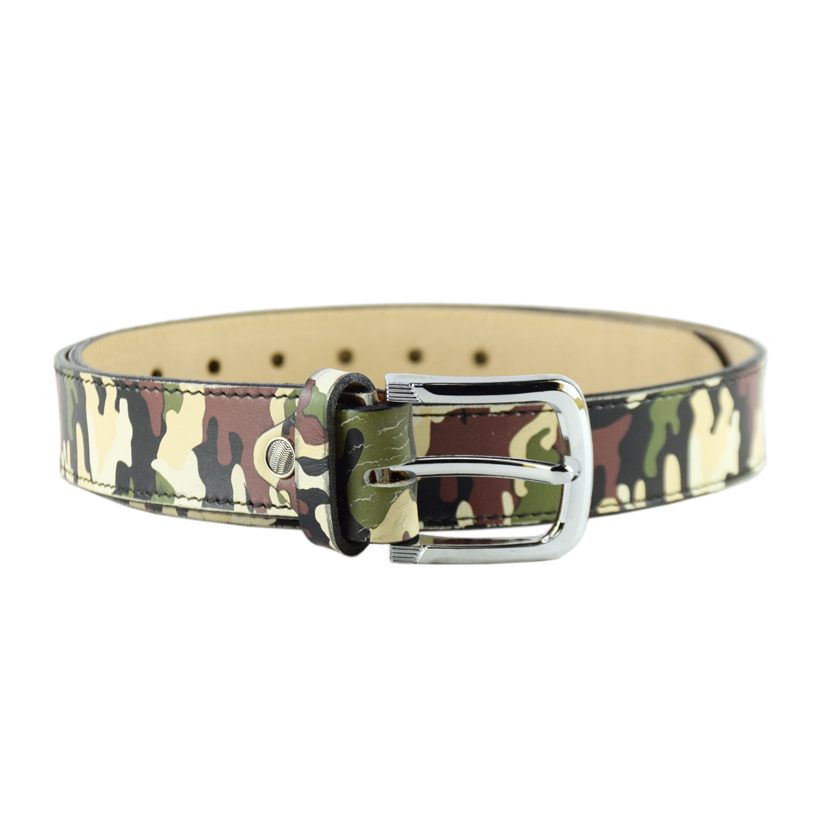 Casual Military Camo Leather Belt 1.5""