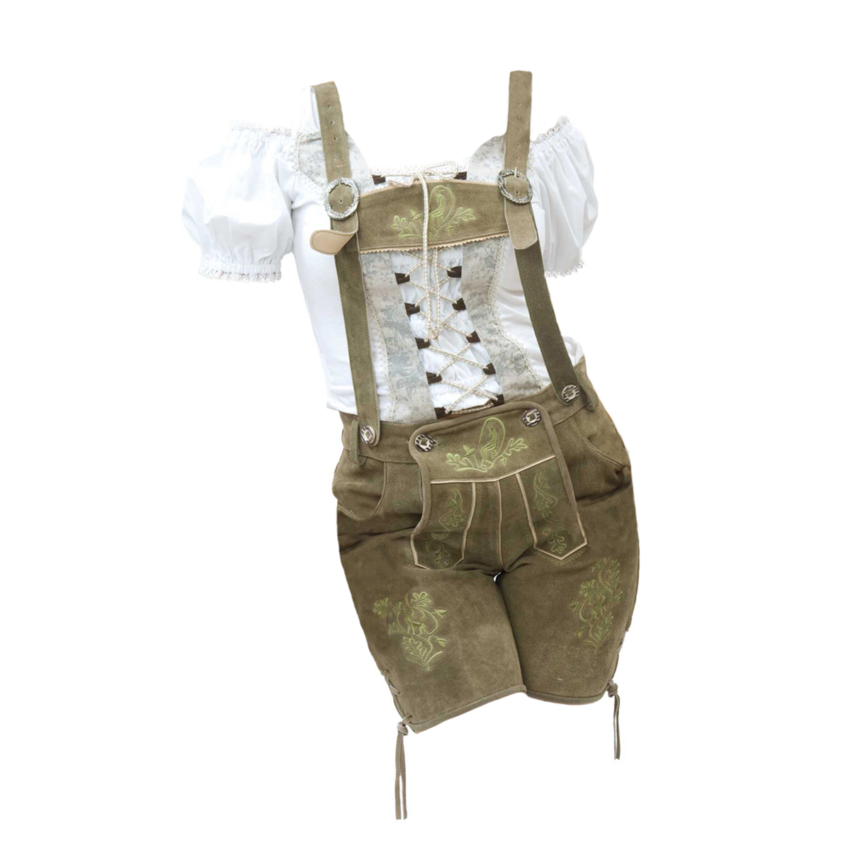 LADIES LIGHT BROWN SHORT LEDERHOSEN