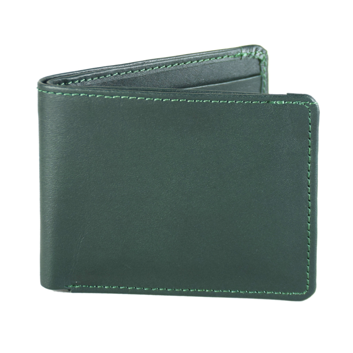 GREEN WALLET WITH SEVERAL POCKETS