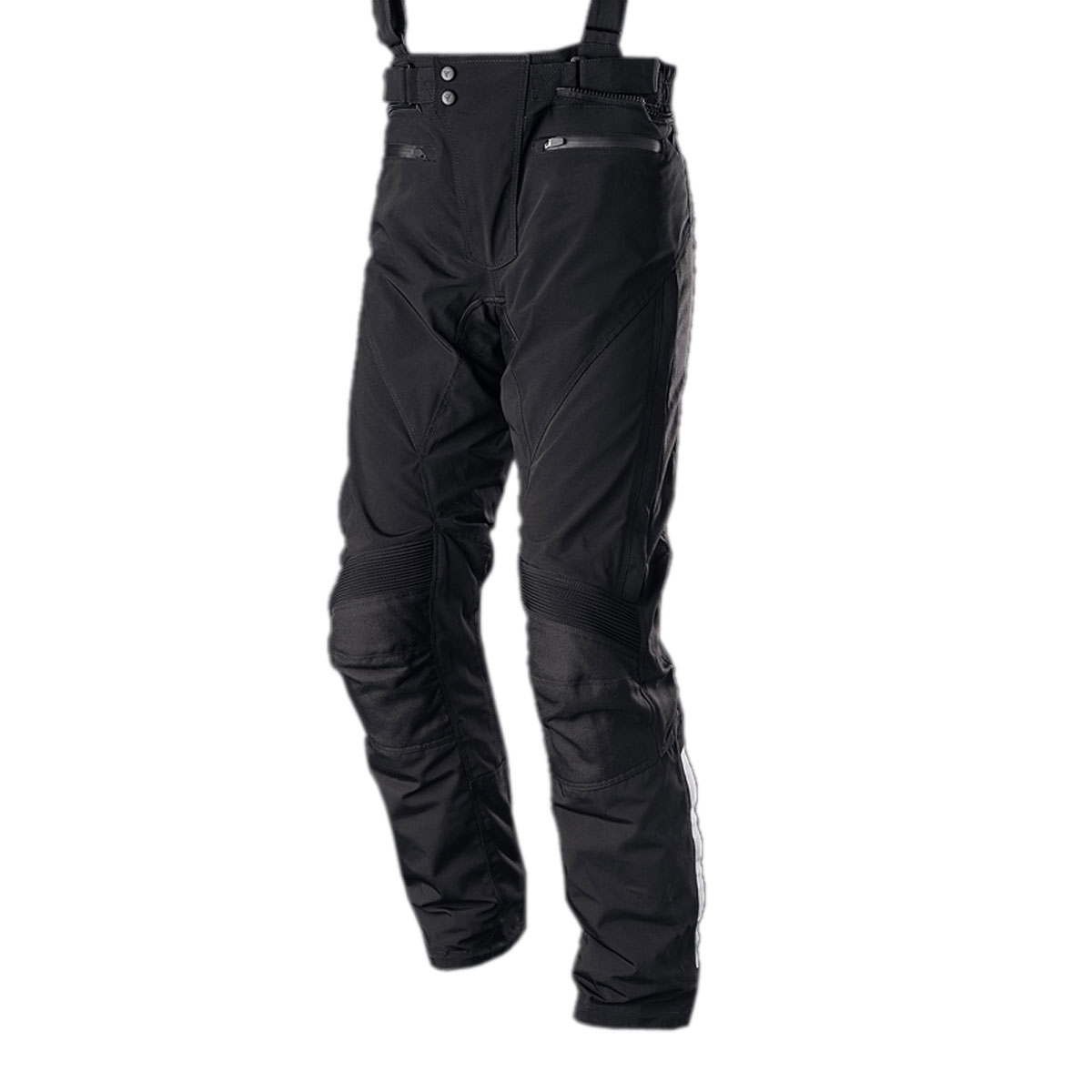 BLACK FEMALE CORDURA PANT WITH HORIZONTAL ZIP