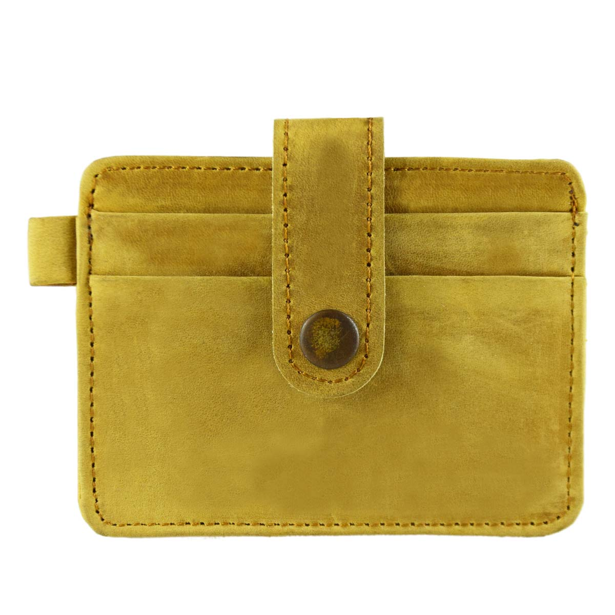 TAN CR./DR. CARD HOLDER WITH STRAP