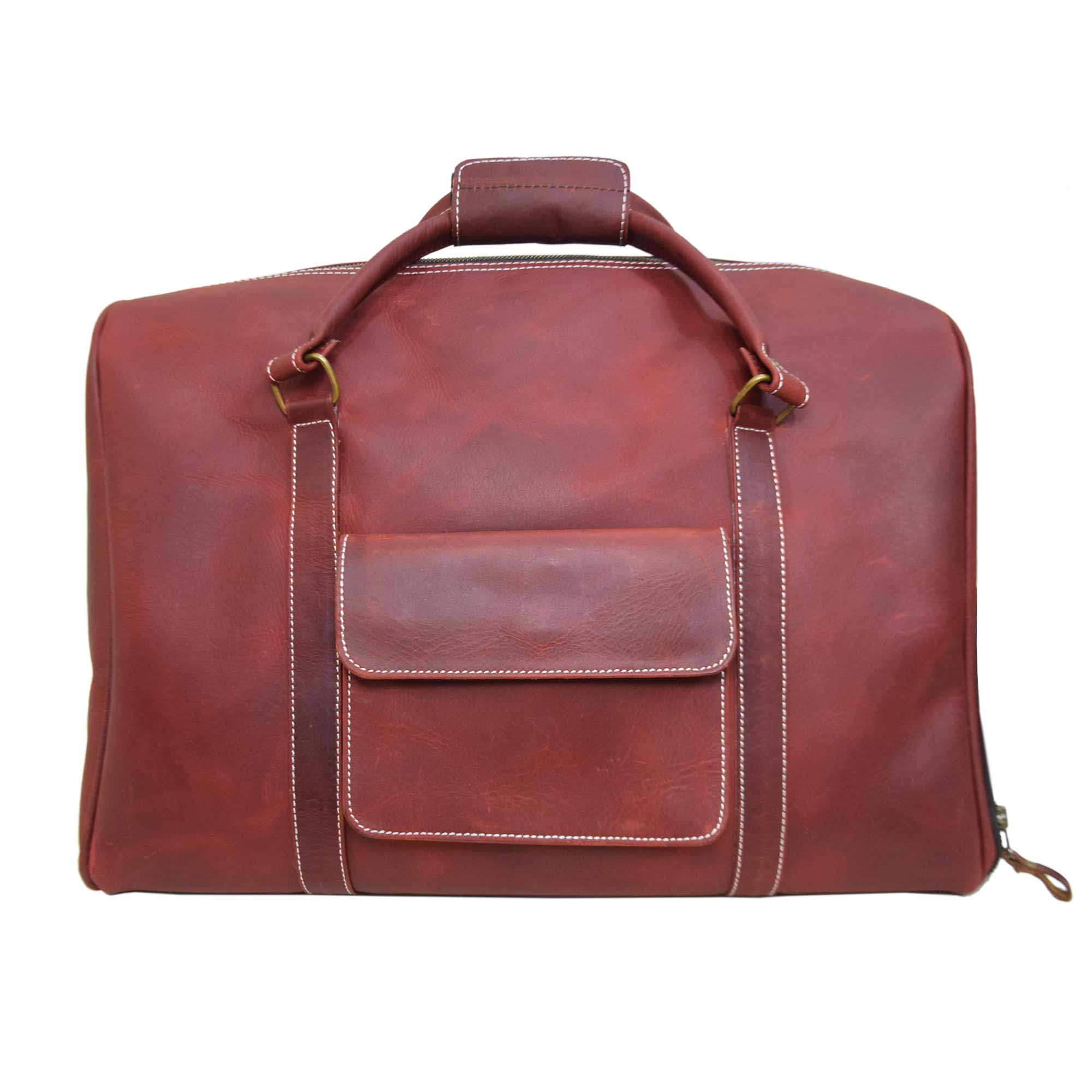 MAROON WEEKEND BAG WITH UNIQUE SIMPLE LOOK