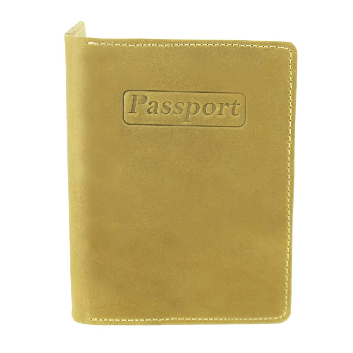 TAN LEATHER PASSPORT HOLDER