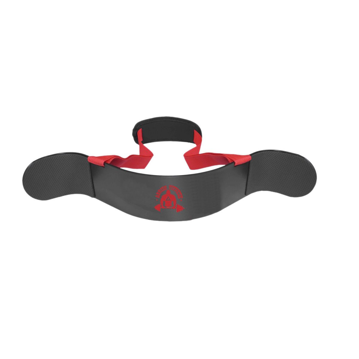 GRAY ARM BLASTER WITH RED BELT ON POLYESTER WEB