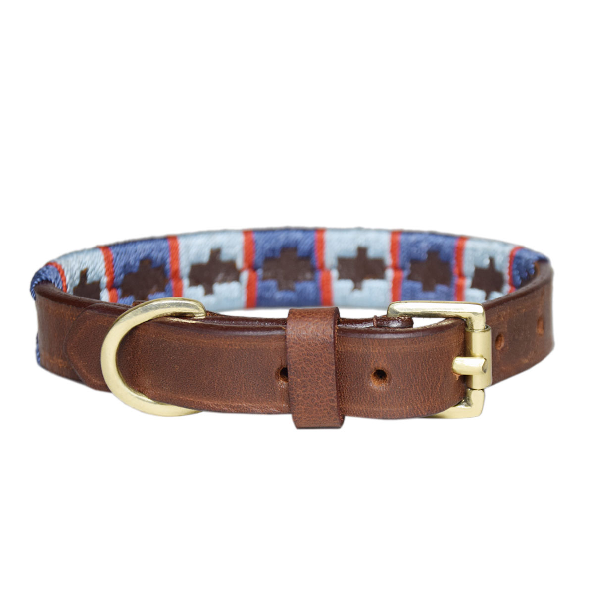 BROWN PET POLO COLLAR BELT FOR PETS 8MM