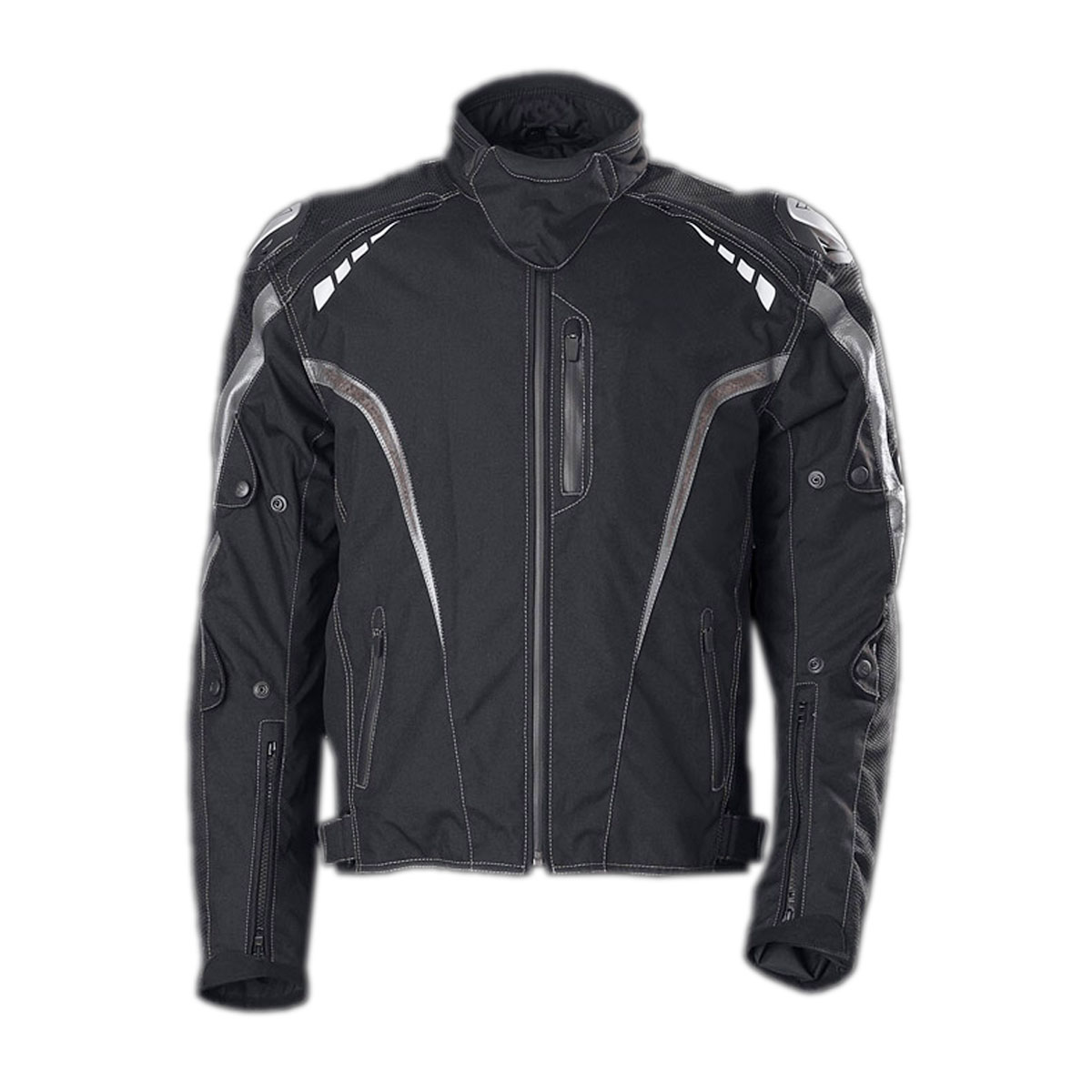 BLACK FEMALE CORDURA JACKET WITH SHOULDER SUPPORT
