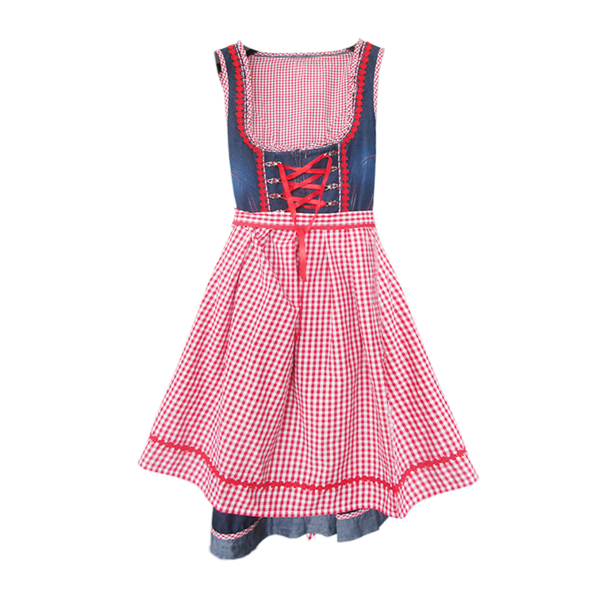 CHECKERED APPAREL WITH COTTON JEANS DIRNDL