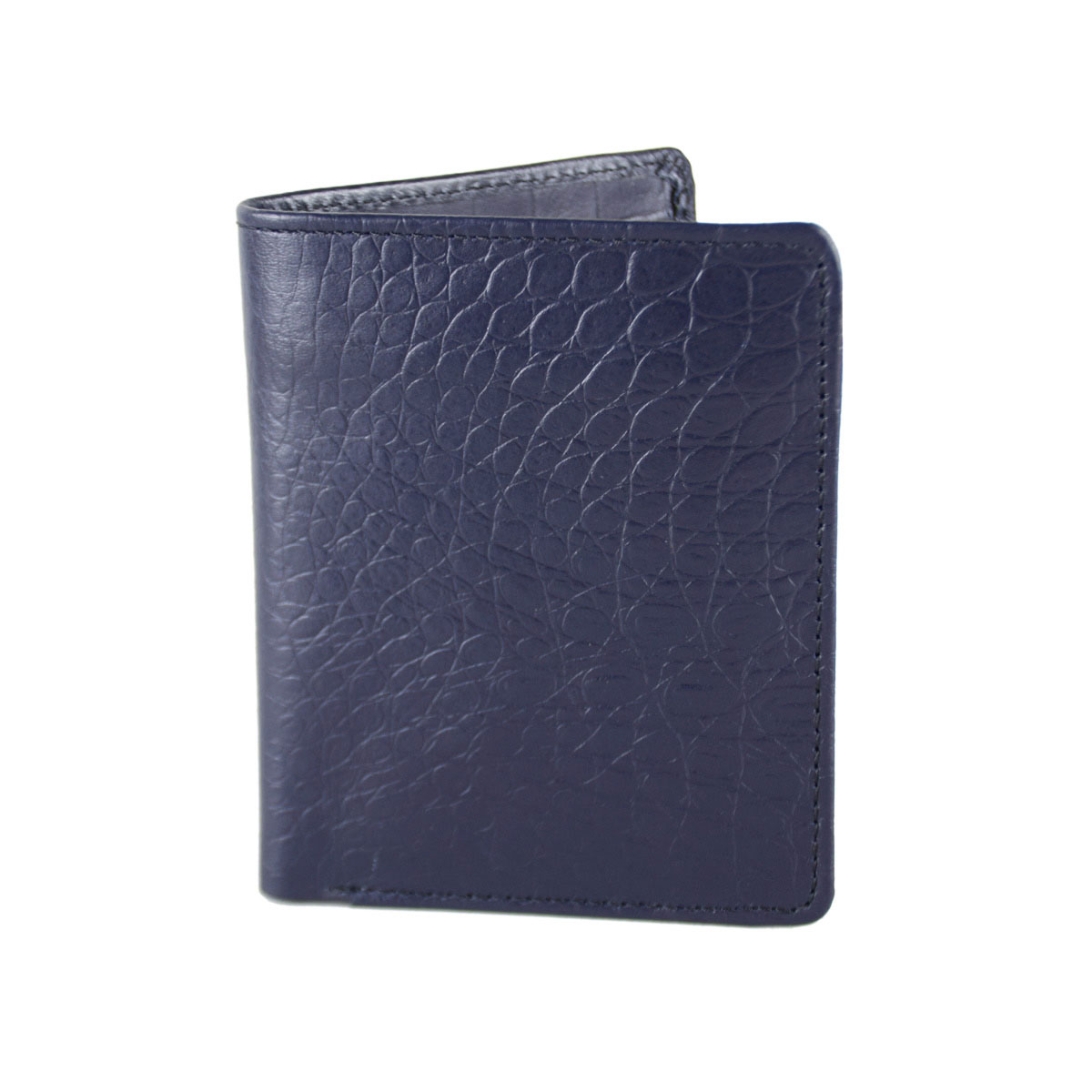 BLUE WALLET WITH CENTRAL ZIP
