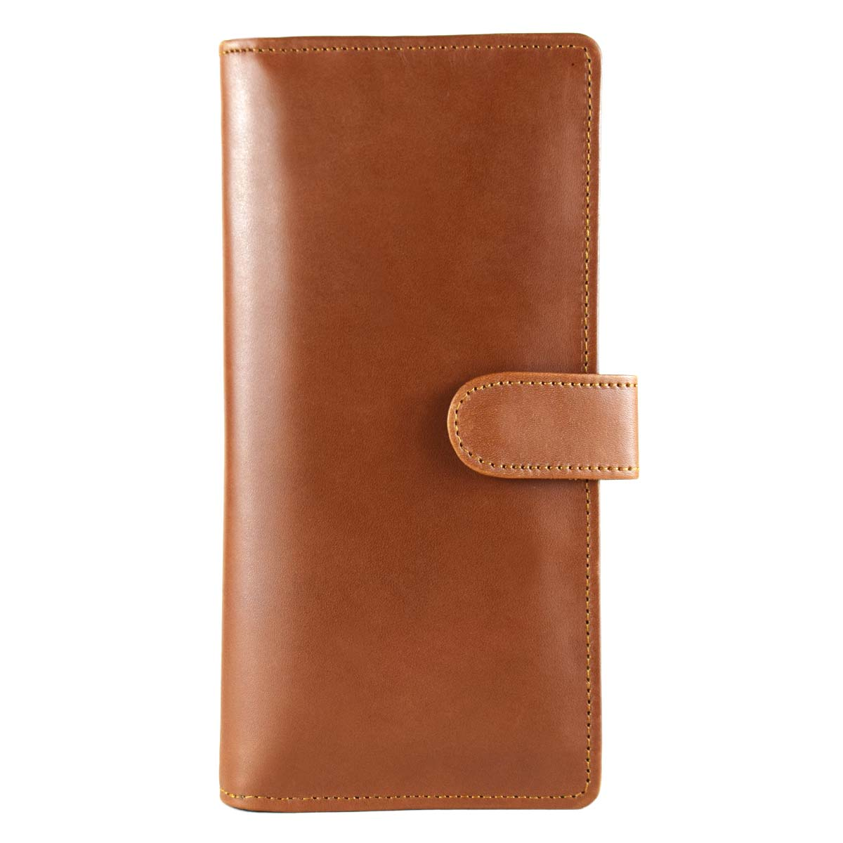 BROWN LONG WALLET WITH STRAP