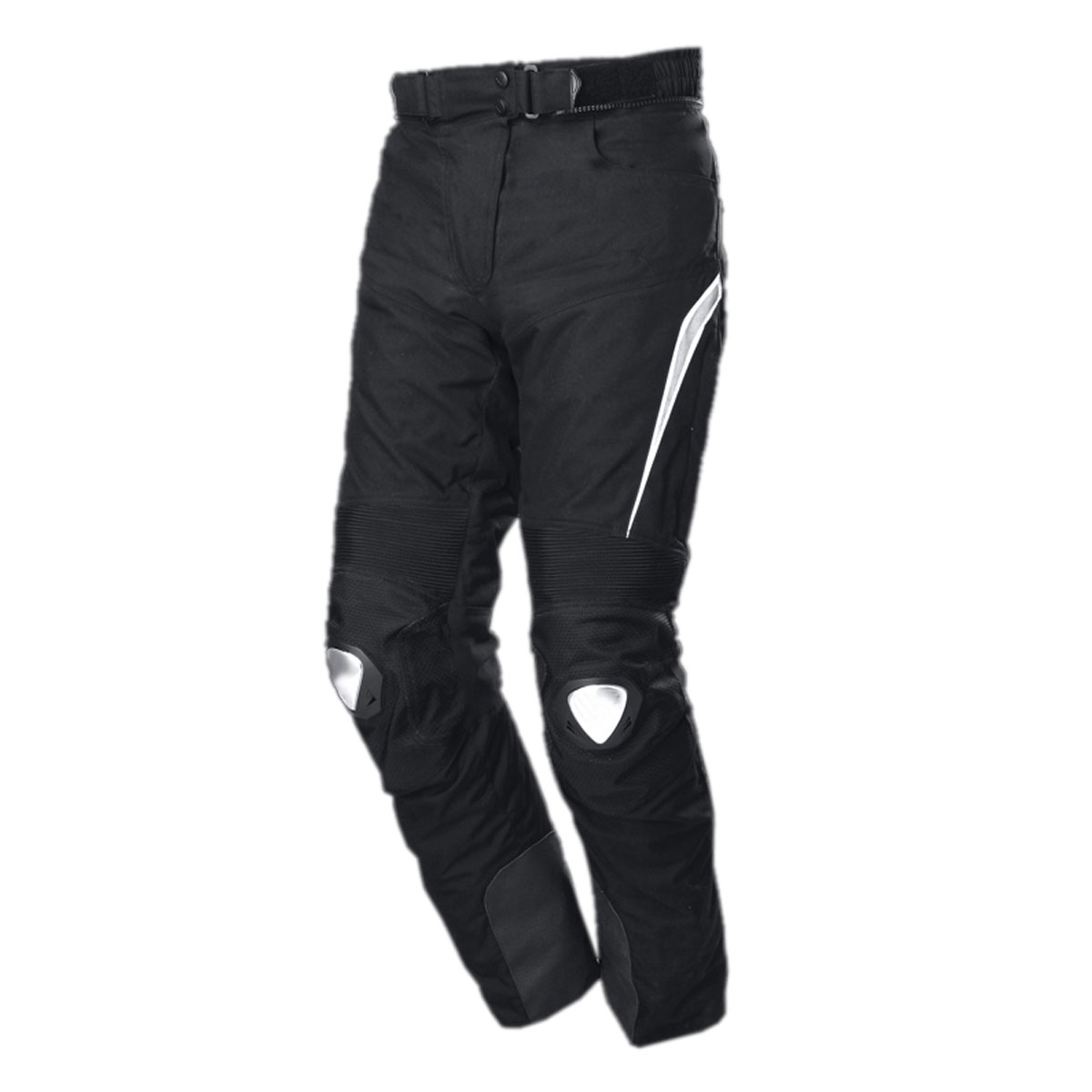 BLACK MALE CORDURA PANT WITH WHITE KNEE SUPPORT