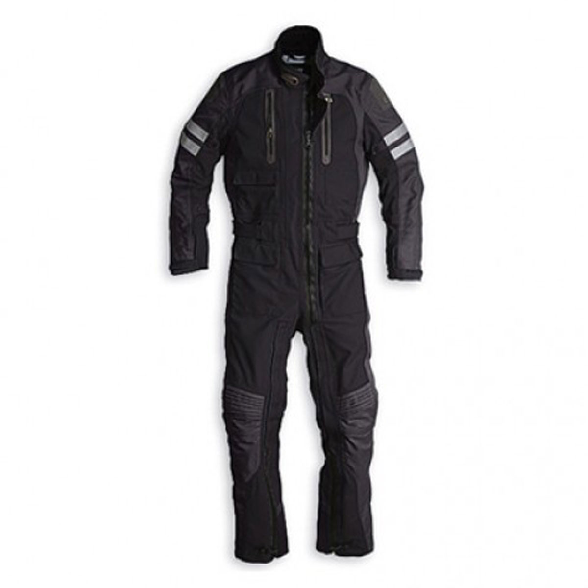 BLACK CORDURA SUIT WITH LONG ZIP