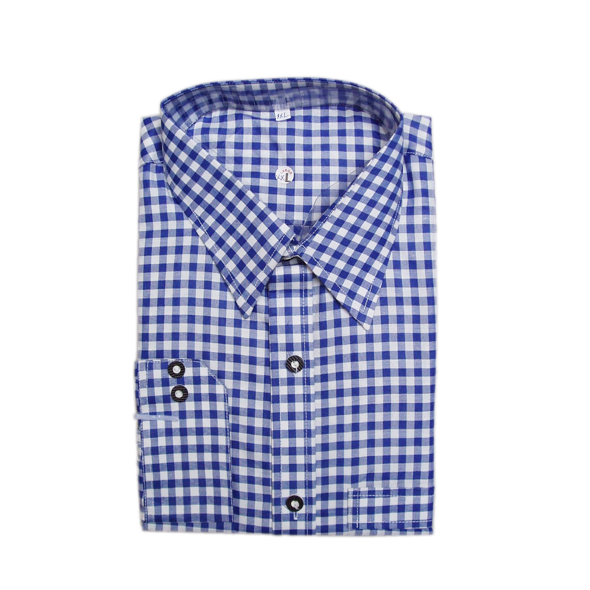 BLUE MENS CHECK SHIRT