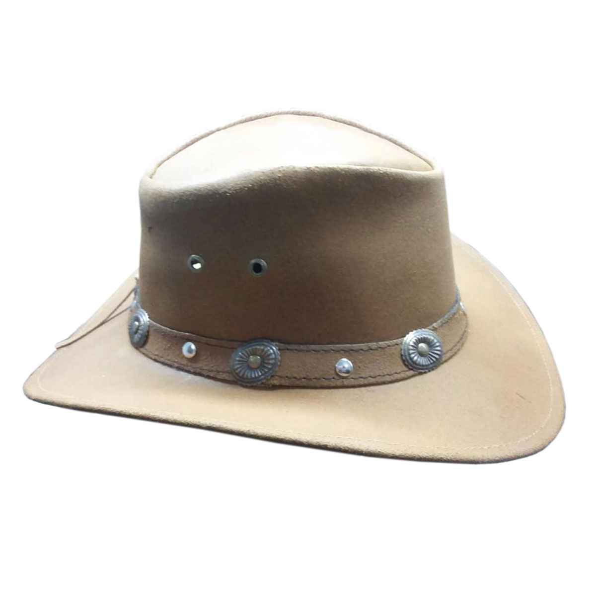 LIGHT BROWN LEATHER HAT