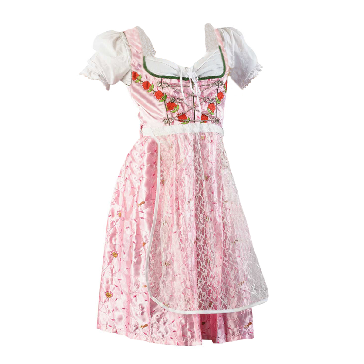 FLOWERS WITH CHAIN DIRNDL
