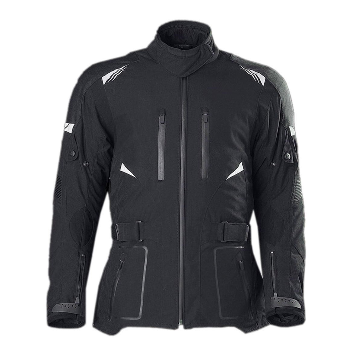 BLACK FEMALE CORDURA JACKET WITH FRONT ZIPS