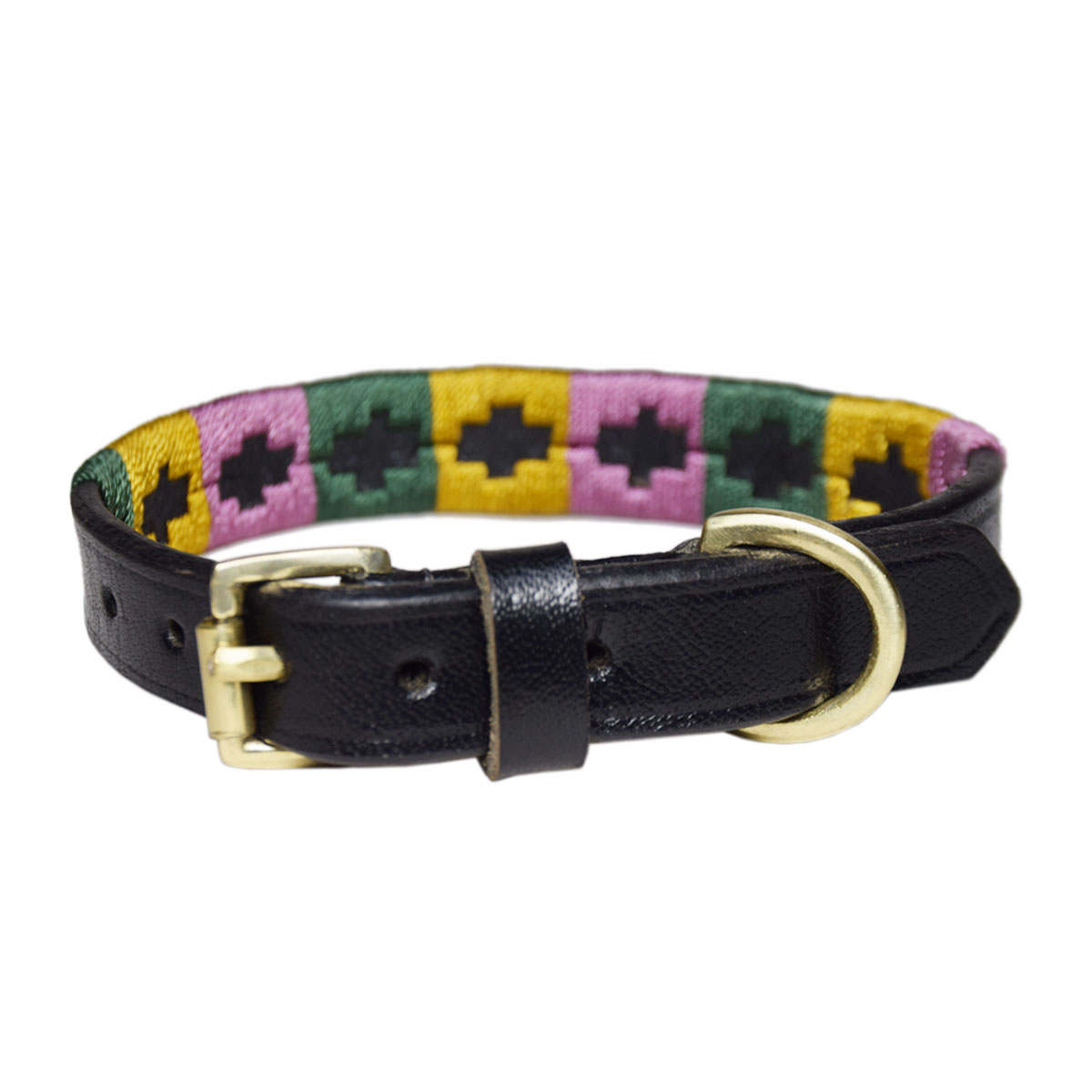 BLACK PET POLO COLLAR BELT FOR PETS 6MM