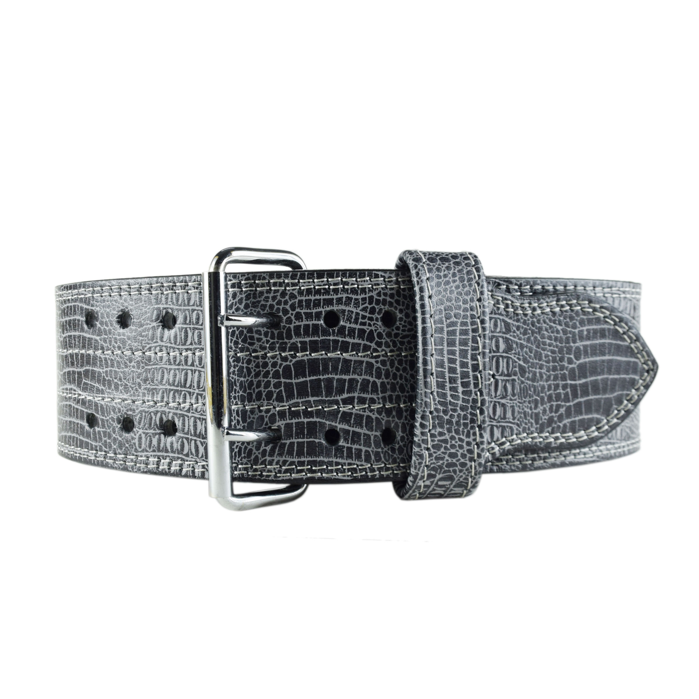 GREY & BLACK WEIGHTLIFTING BELT