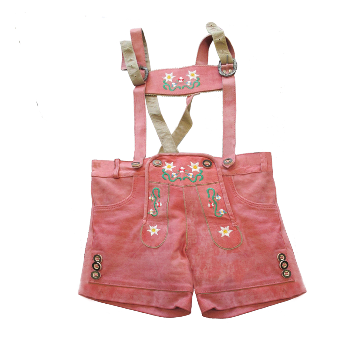 LADIES PINK LEDERHOSEN