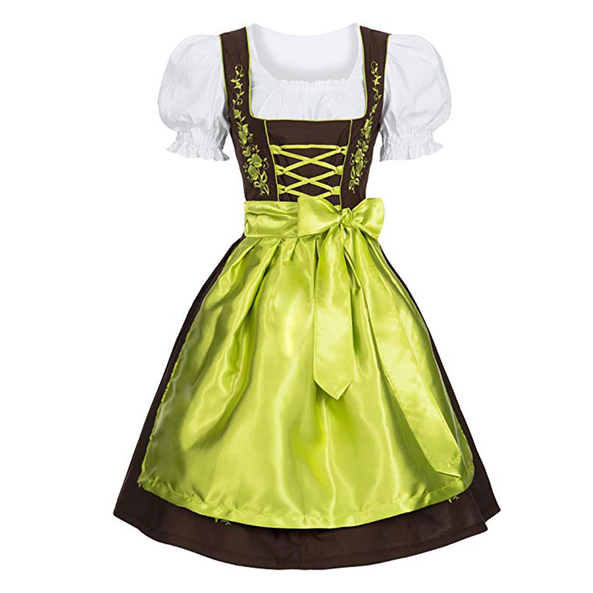 FLOWERS DIRNDL WITH PLAIN APPAREL
