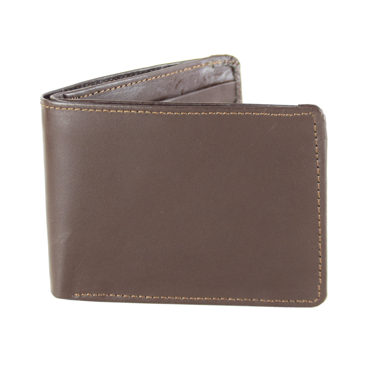 BROWN WALLET WITH FOLDABLE CARD HOLDER
