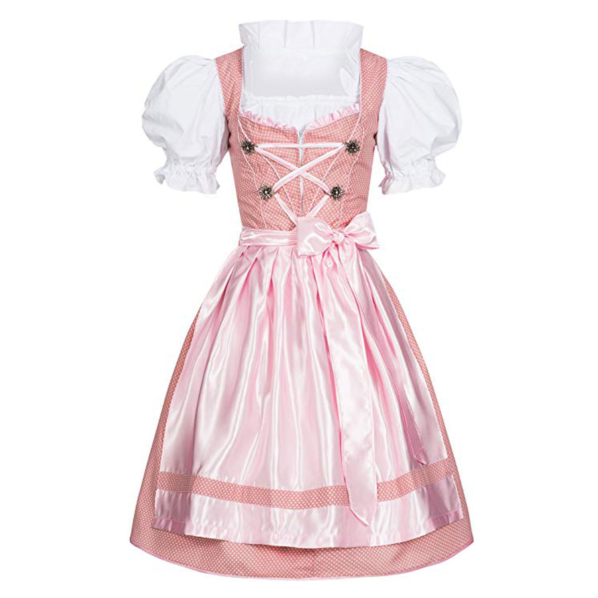 DOTS DIRNDL WITH COLLAR