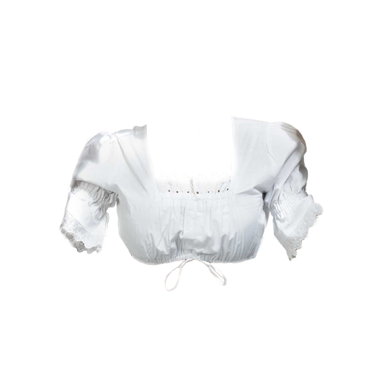 WHITE BLOUSE WITH LACES