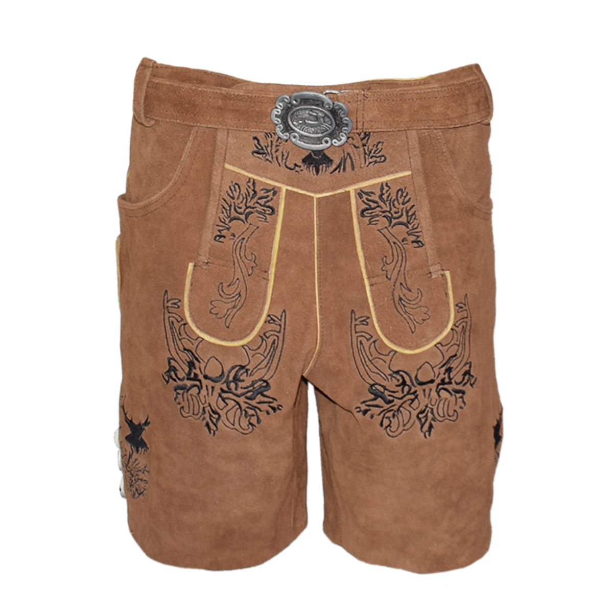 BRIGHT BROWN MEN SHORT LEDERHOSEN