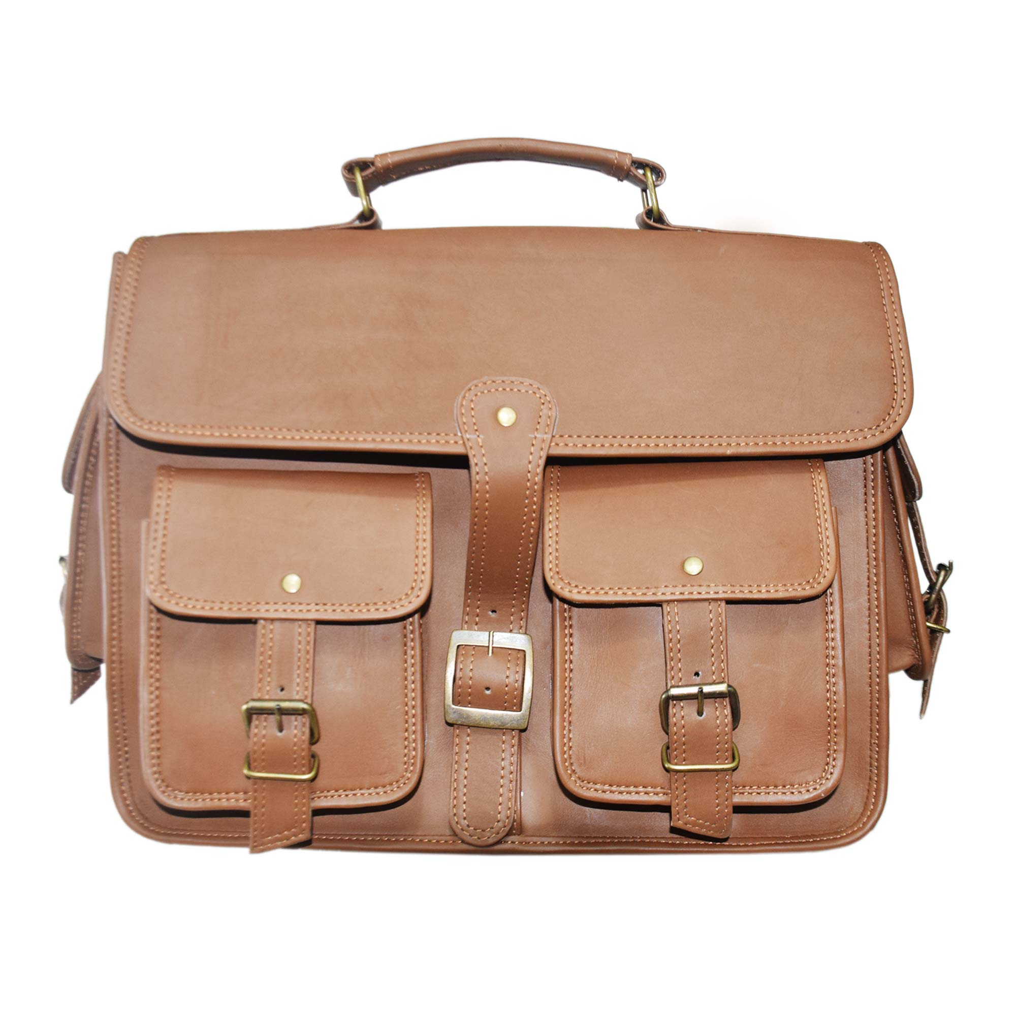 BROWN LAPTOP / MESSENGER BAG FOR 15