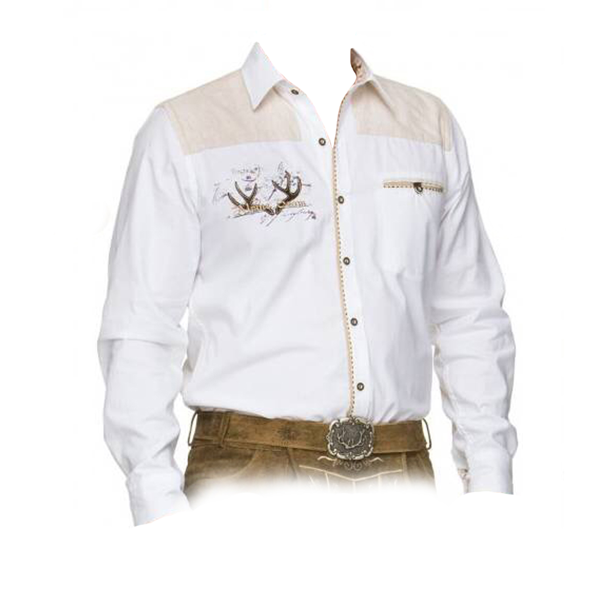 WHITE MEN SHIRT WITH SKIN LINING